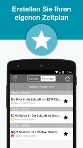 JAX Mobile App - Zeitplan