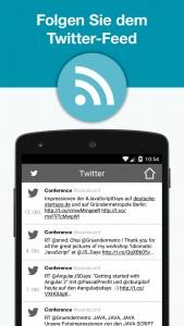 JAX Mobile App - Twitter-Feed