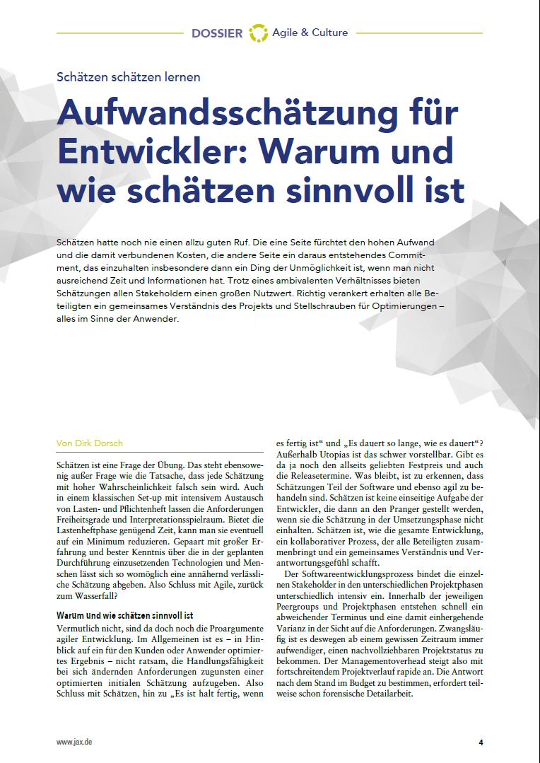 Mehr als 40 Seiten zu Wissen zu: Java, Software-Architektur und Software-Innovation.